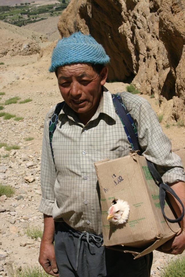avondeten  tijdens trekking in Ladakh