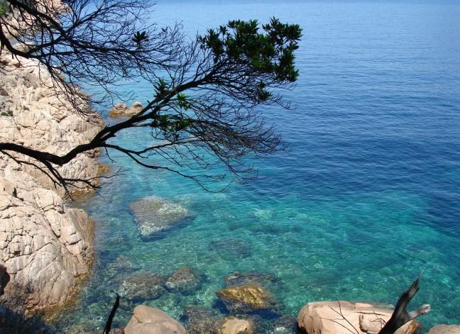 azuur blauwe zee