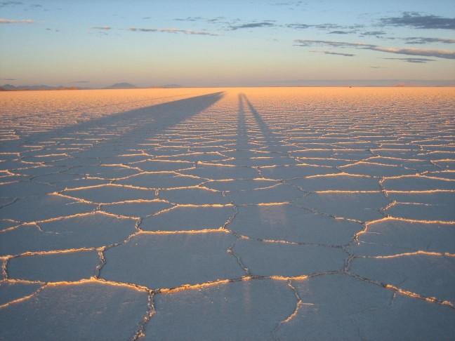 Zonsopkomst zoutvlakte Uyuni