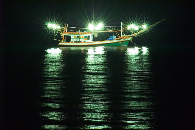 Vissersboot die gezien wil worden