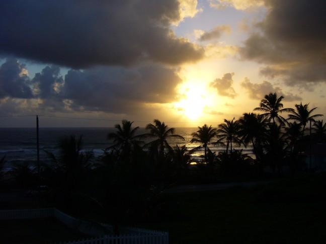 zonsopkomst op Cattlewash Barbados