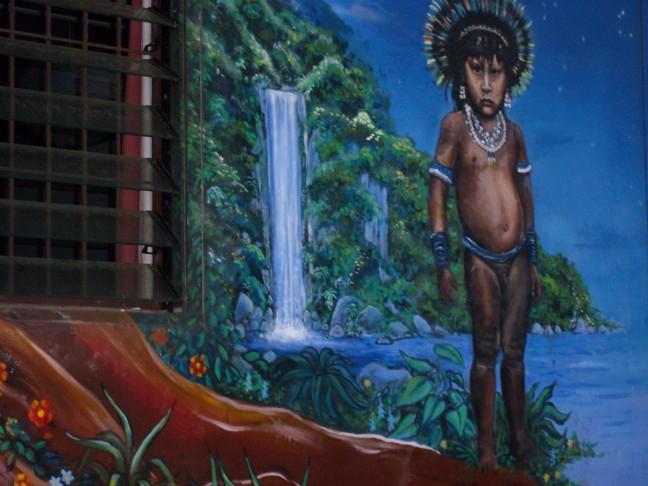 Muutschildering HIppy Hostel