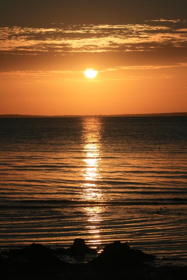 zonsondergang Fraser Island
