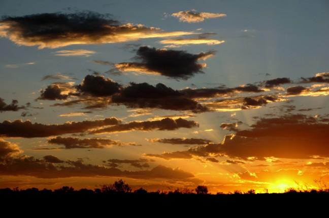 zonsondergang bij Uluru