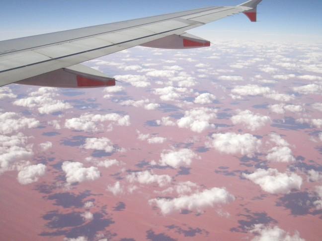 De rode aarde in de outback