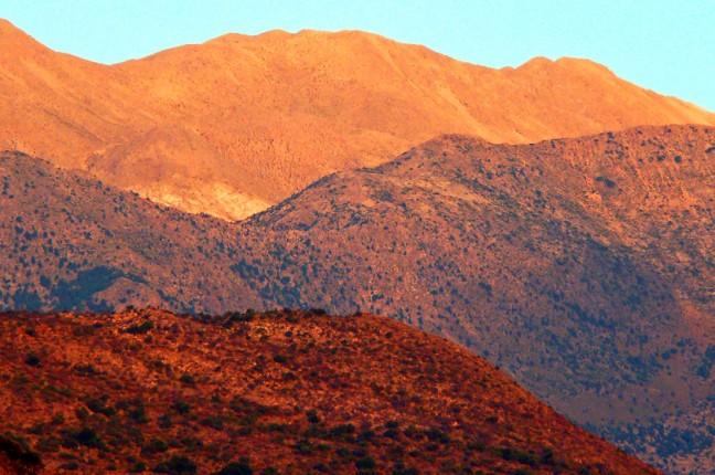 Zonsopgang over de bergen