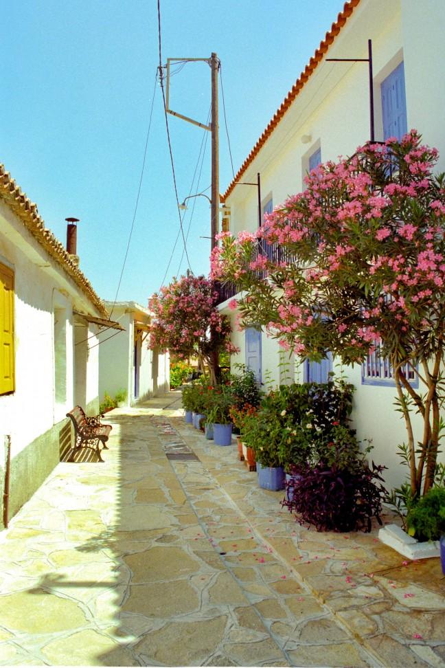 typisch grieks dorpje