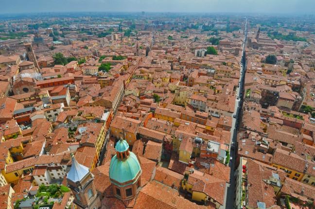 Uitzicht Asinelli toren