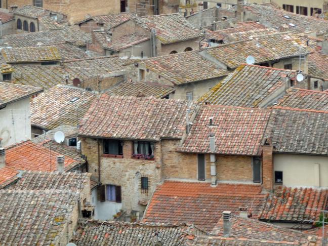 de daken van San Gimignano
