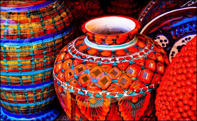 Kleurige potten