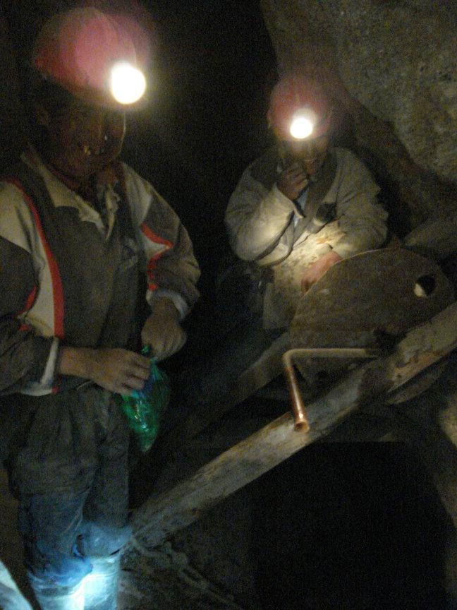 Minwerkers in Cerro Rico