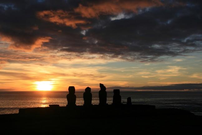 Paaseiland: zonsondergang