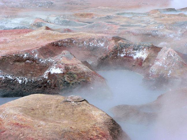 Sol de Manana Geyser Basin