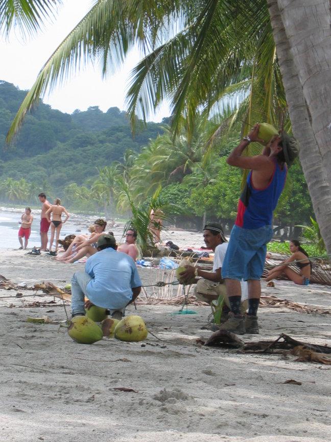 even een kokosnootje pakken
