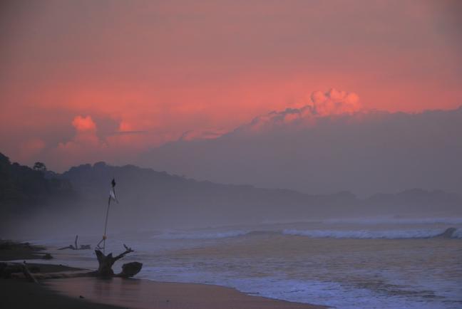 Verlaten strand...