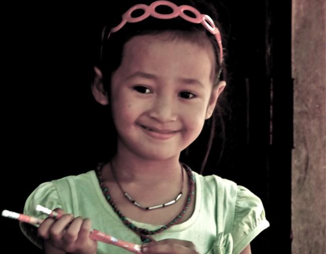 meisje in Laos