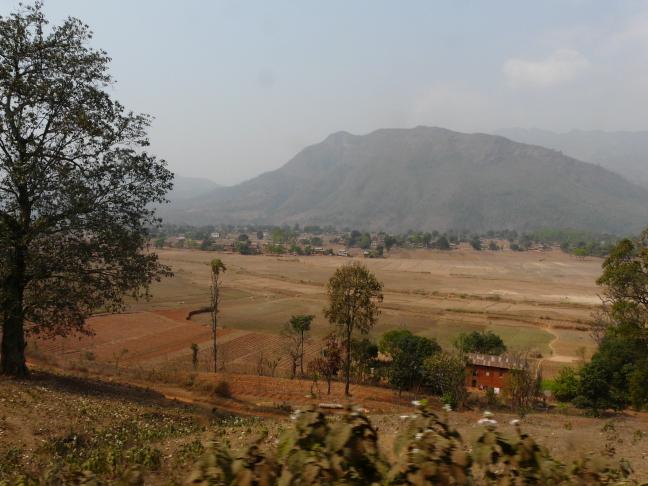 Landschap nabij Helambu