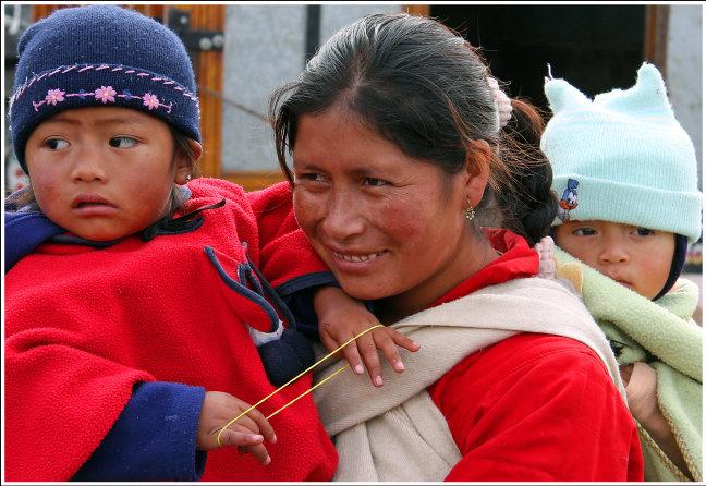 Indigenas op de markt.
