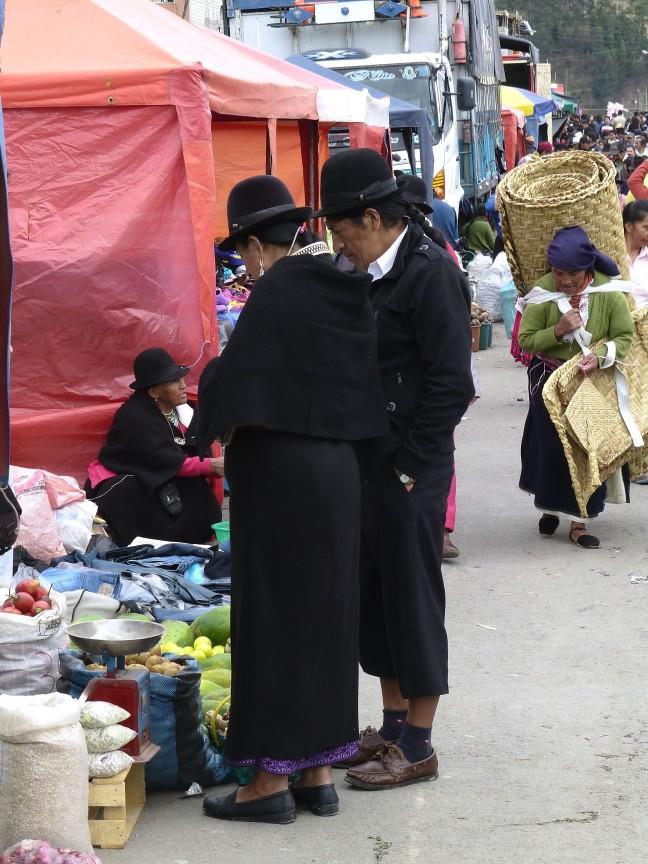 klederdracht in Ecuador