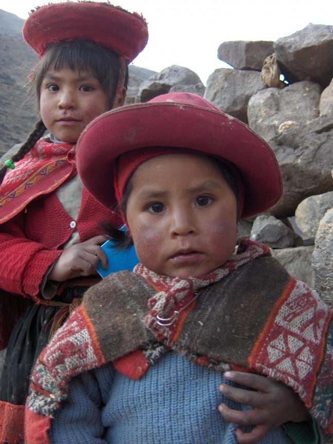 Peruaanse bergkinderen