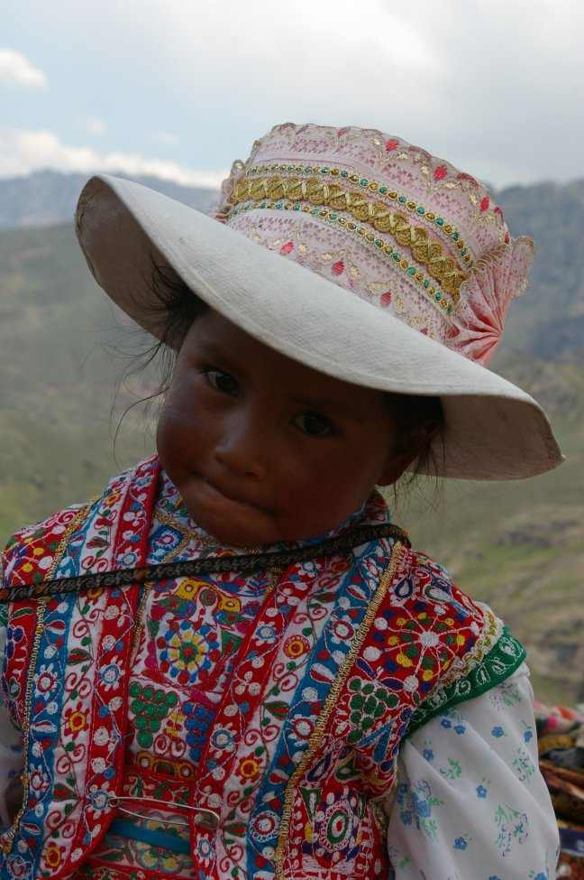 Bergmeisje in Arequipa