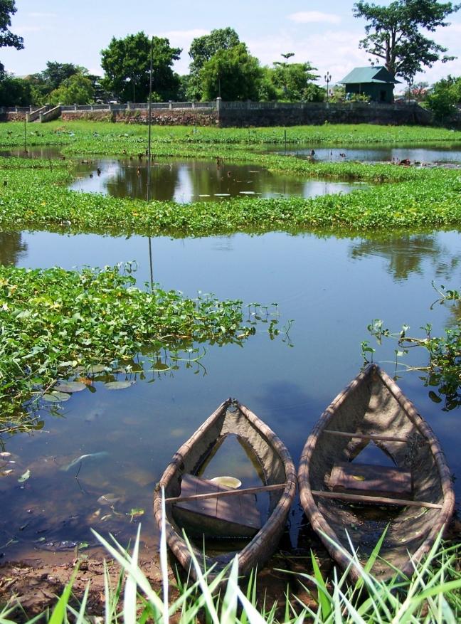 Vissersbootjes in Hue