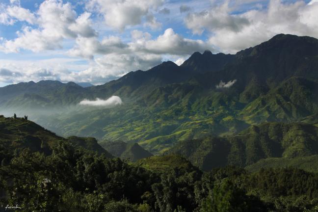 Uitzicht vallei Sapa