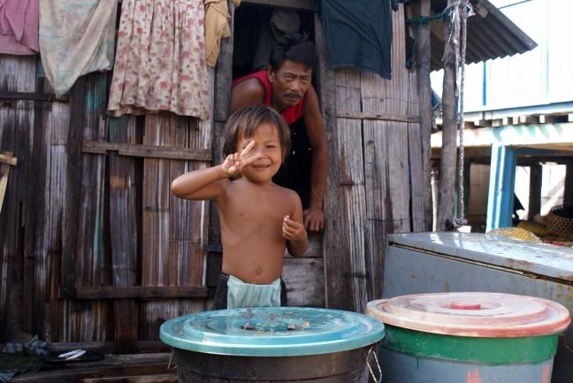 Bewoners van vissersdorp