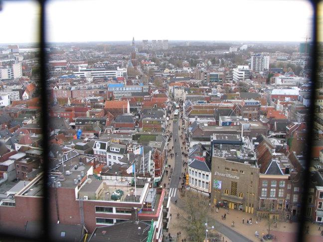 Groningen vanuit de Martinitoren