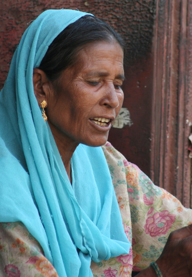 indiase vrouw in bikaner