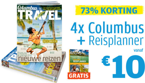 Hoofdfoto Maak kennis met reismagazine Columbus Travel